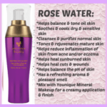 Rose water for toner